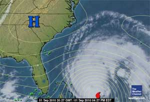 Hurricane Earl image from Weather.com